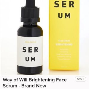 Way of Will Face Brightening serum.